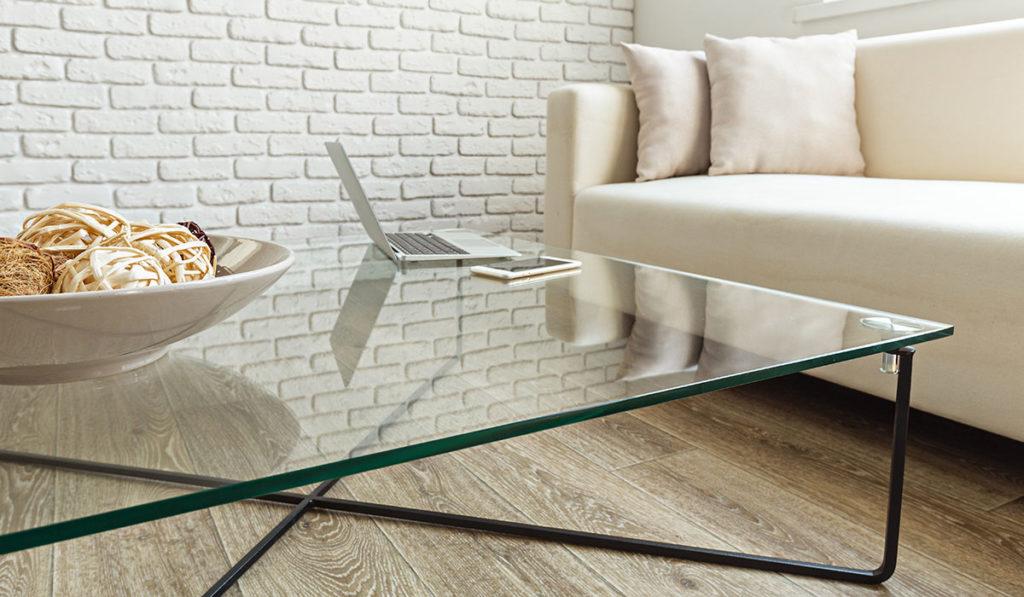 Glasmöbel Tisch