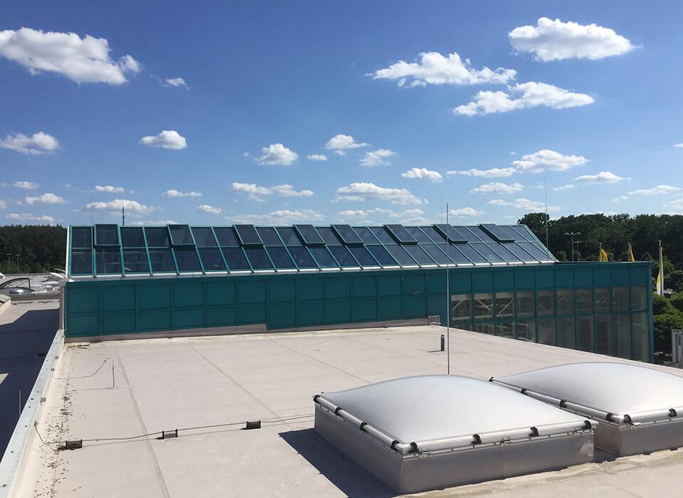 Sonnenschutzfolien Dachflächen
