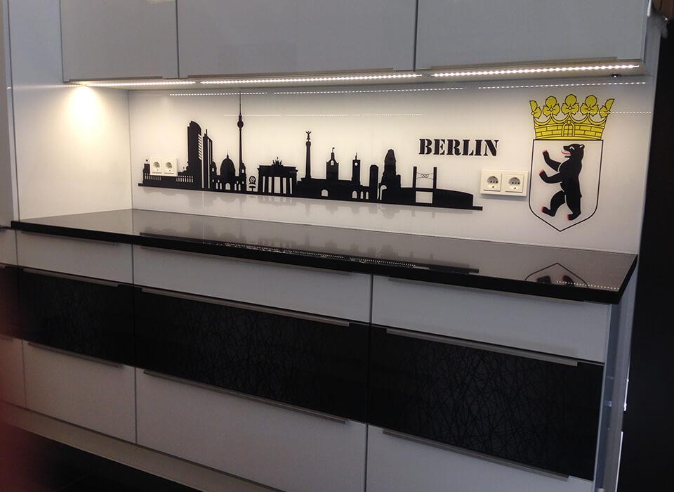 Spritzschutz Berliner Skyline