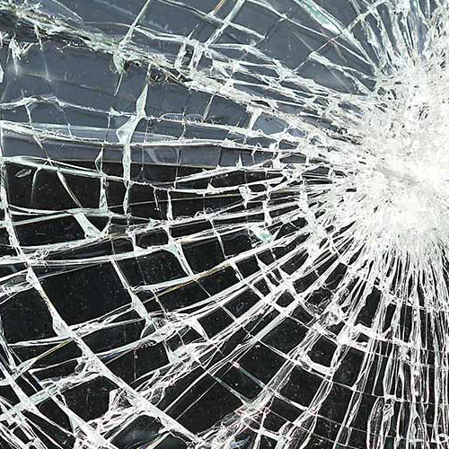 Zerstörtes Fenster