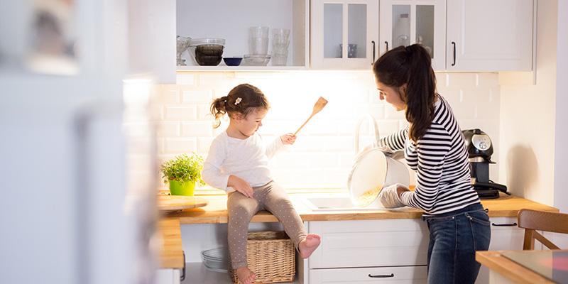 Küchenrückwand mit Spritzschutz
